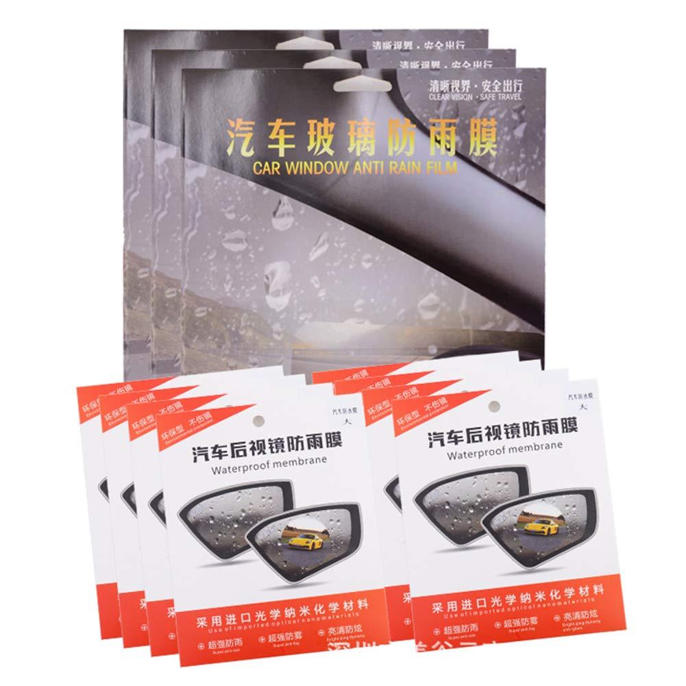 Set di 2 pellicole protettive anti appannamento per specchietti auto impermeabili trasparenti Romsion Accessories antiriflesso antipioggia