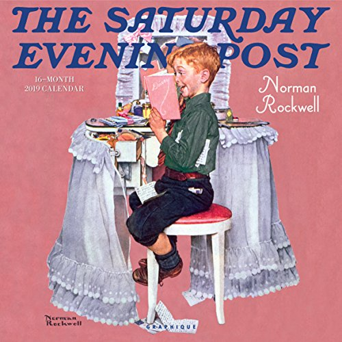 Graphique Saturday Evening Post Wall Calendar - 16-Month 2019 Calendar, 12