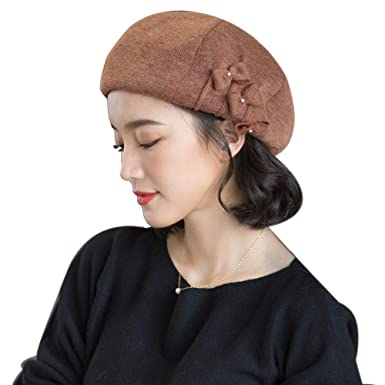561faafd509 Image Unavailable. Image not available for. Color  677888 Winter Hat for Women  Beret Autumn Winter Korean ...