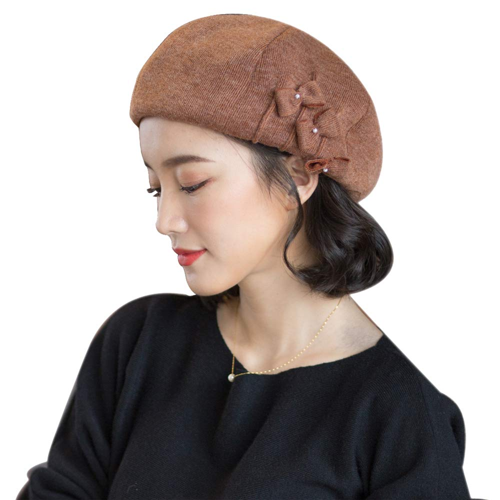 677888 Winter Hat for Women Beret Autumn Winter Korean Fashion British Winter Student Octagon Hat