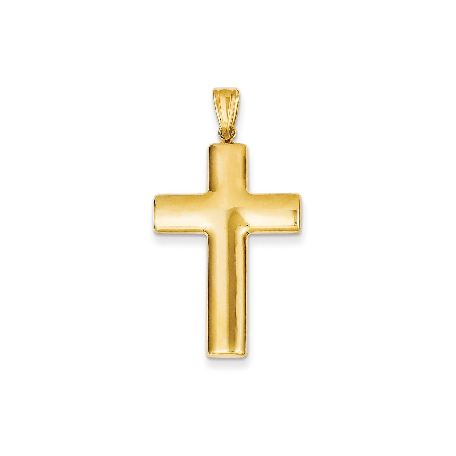 Roy Rose Jewelry 14K Yellow Gold Hollow Cross Pendant 45mm length