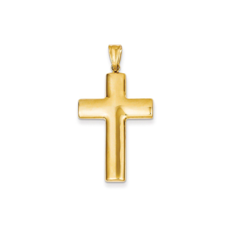 Roy Rose Jewelry 14K Yellow Gold Hollow Cross Pendant 45mm length