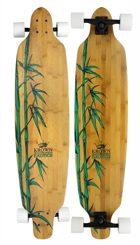 Krown Krex 2 Bamboo Freestyle Complete Longboard, 9.25x41-Inch by Krown