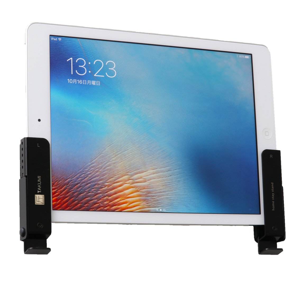 Home Stay Stand Takumi, Tablet Wall Mount, Tablet Stand, Made in Japan, Alx, Tablets, Smartphones, Smartphone Stand (Black) NAGAO INDUSTRY INC.