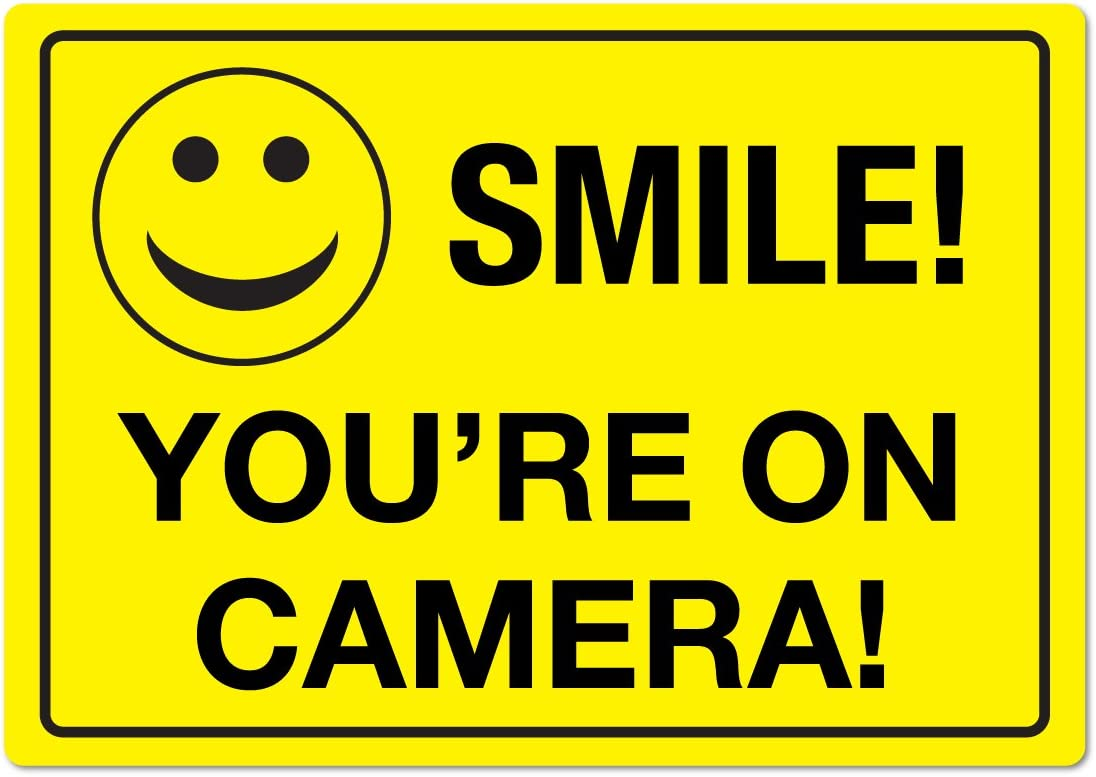 Smile Youre On Camera Sticker Decal Sign
