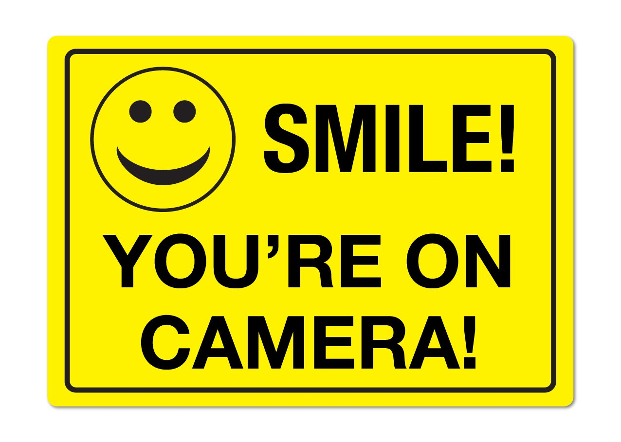 LOT OF WATERPROOF SMILE SECURITY CCTV HOME VIDEO CAMERAS OUTDOOR WARNING STICKER
