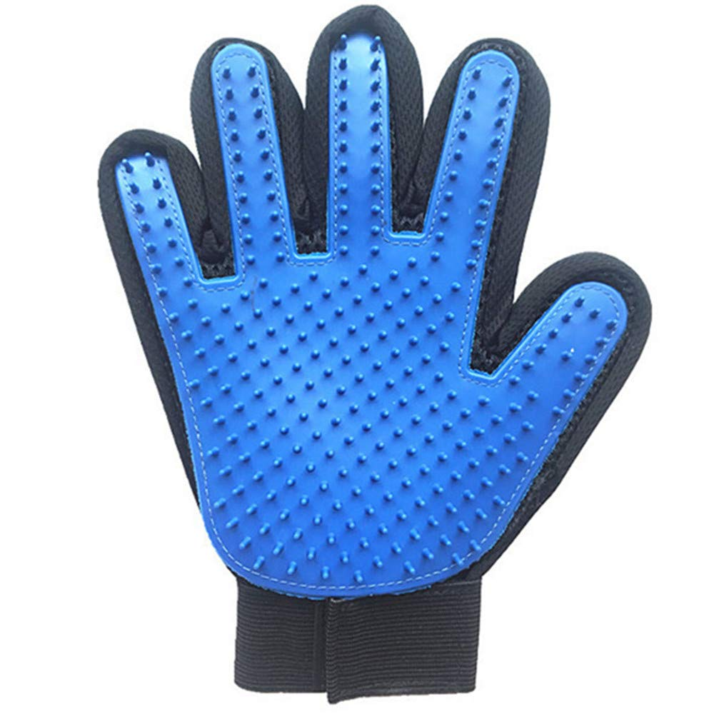 WYF Pet Grooming Massage Gloves Cat Cleaning Mane Silicone Bath Massage Brush Efficient Hair Removal Device to Promote Blood Circulation Suitable for Long Hair and Short Hair
