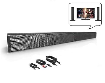 Zuoli Barra de Sonido, Altavoz, Bluetooth Altavoz con Cable e inalámbrico, Altavoz estéreo HD con Mando a Distancia, Ranura para Tarjeta TF, ...