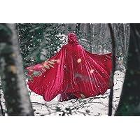 Capa medieval roja de terciopelo con capucha disfraz halloween caperucita roja cosplay