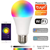 BAOMING LED Smart WiFi Bulb,7W RGB+Cold White Dimmable E27 Base,No Hub Required,1 Pack,Works with Google Assistant, Apple HomeKit, Amazon Alexa, IFTTT,and Echo Dot