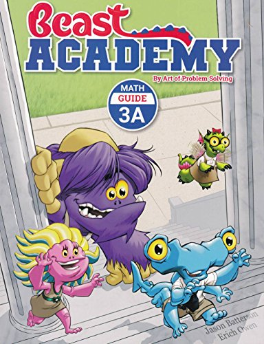 - Art of Problem Solving Beast Academy 3A and 3B and 3C and 3D Guide and Practice 8-Book Set