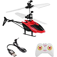 vGRASSP Kids Induction Indoor Helicopter - Only Up Down Controls on Remote - Hand Controlled 2-in-1 Type (Colour as per Stock)