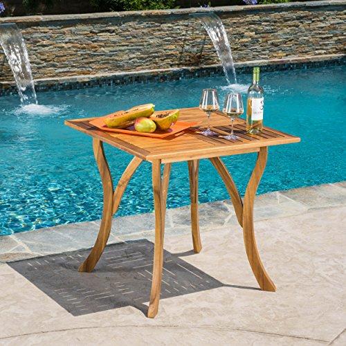 Baia Square Acacia Wood Table by GDF Studio