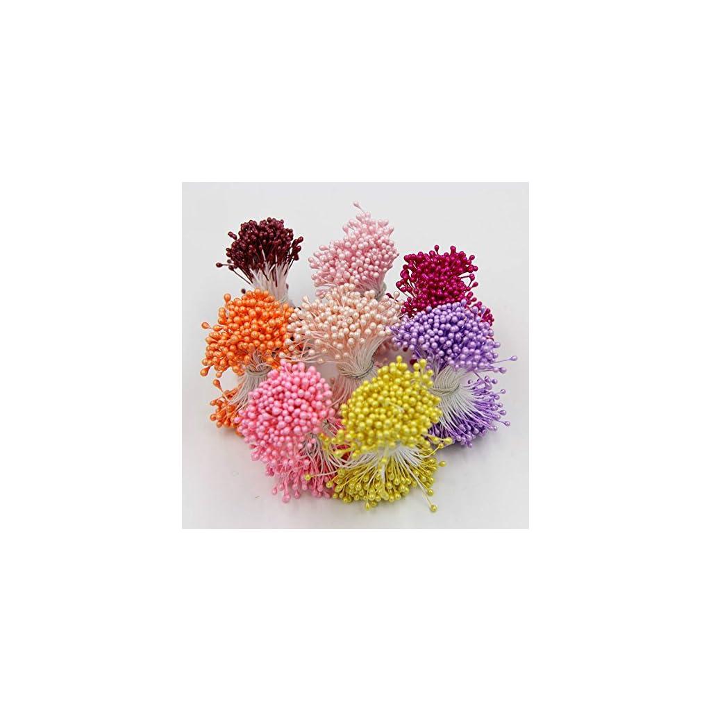 4-Bundle-1200PCS-55cm-Artificial-Flower-Double-Heads-Stamen-Pearlized-Craft-Cards-Cakes-Decor-Floral-For-Home-Wedding-Party-Decor