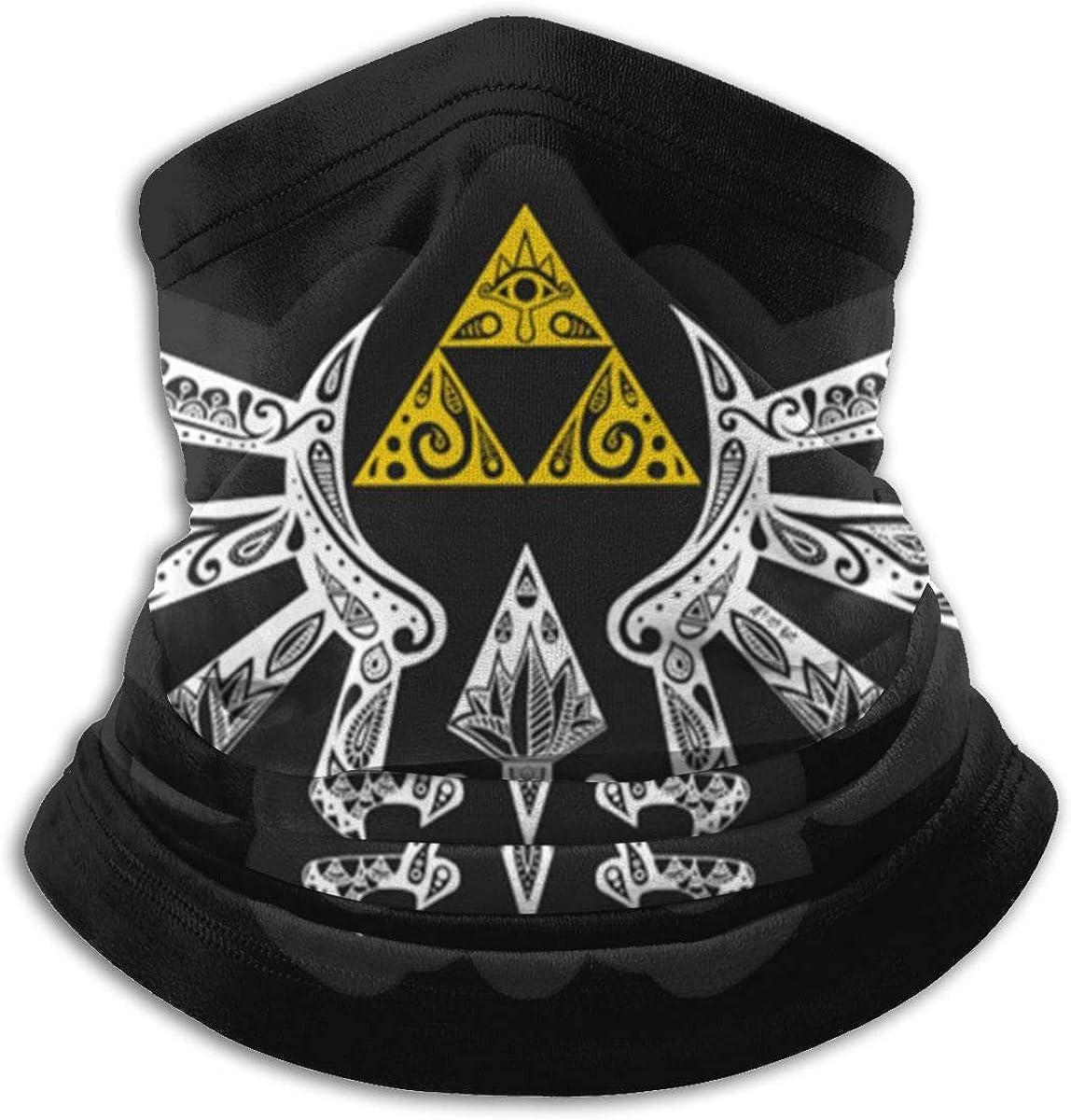 The Legend of Zelda Triforce Unisex Microfiber Neck Warmer Neck Gaiter Face Mask Bandana Balaclava