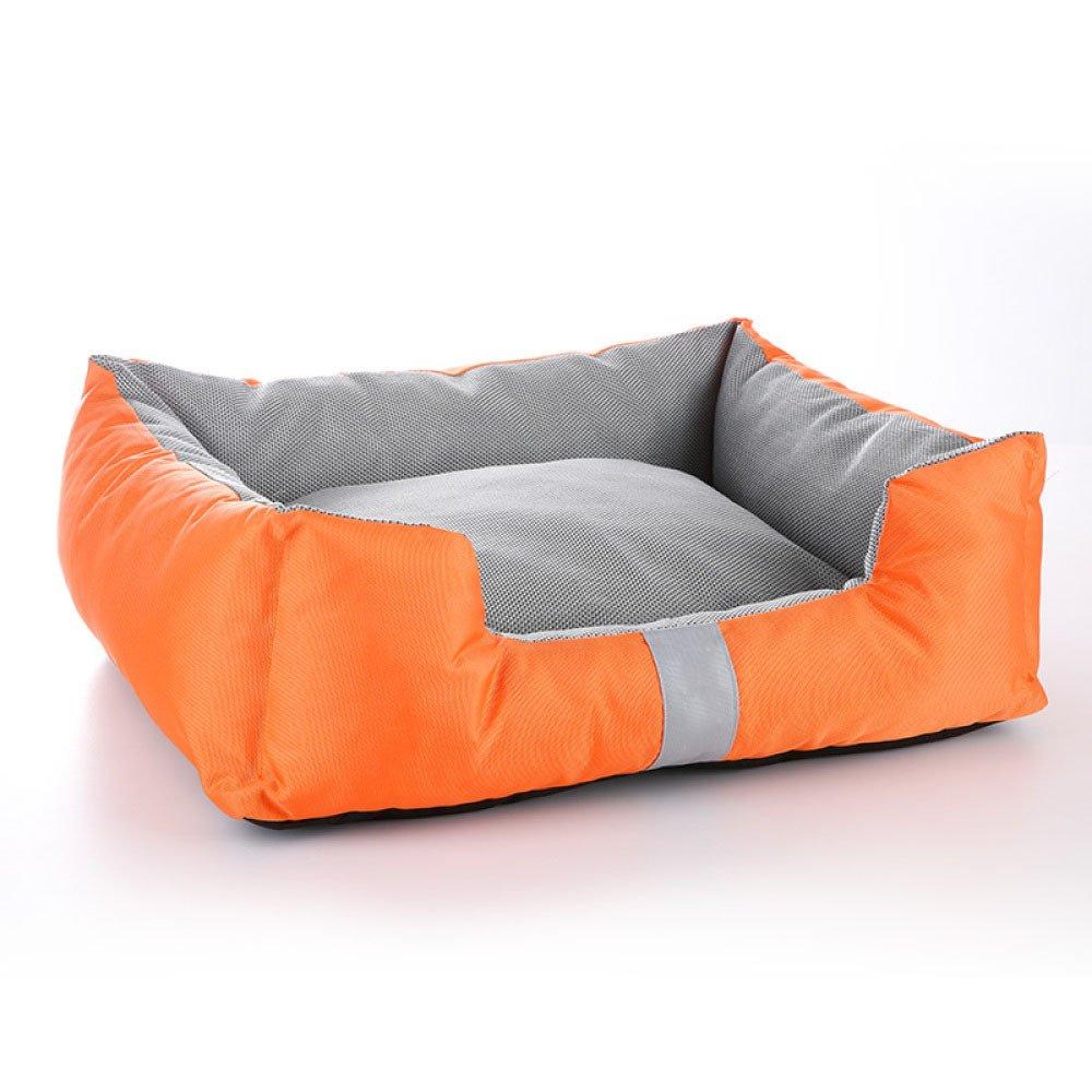 orange 7559cm orange 7559cm pet beds Dog's Bed Premium Orthopedic Memory Foam Waterproof Dog Beds Many Colours Sizes Eases Pet Arthritis Hip Dysplasia Pain,orange-7559cm