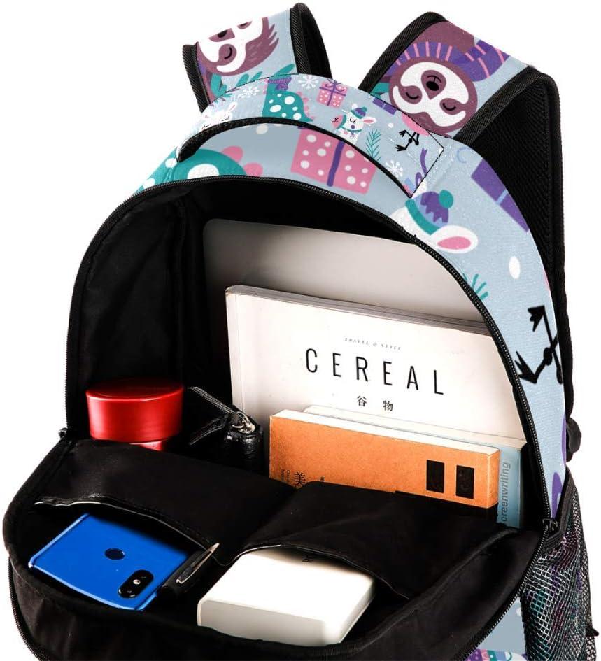Cute Winter Animals Backpack Travel Bag Laptop Bag School Bag Bookbag Hiking Camping Rucksack