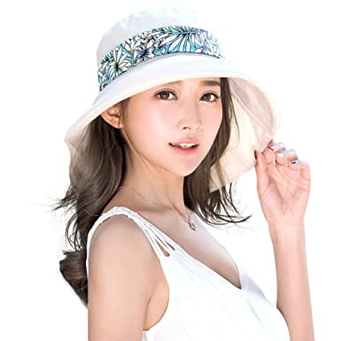 954ca163 Siggi Summer Ladies UV 50 Cotten Sun Hats for Women Wide Brim Packable with  Neck Protection Chin Strap Adjustable Beige: Amazon.co.uk: Clothing