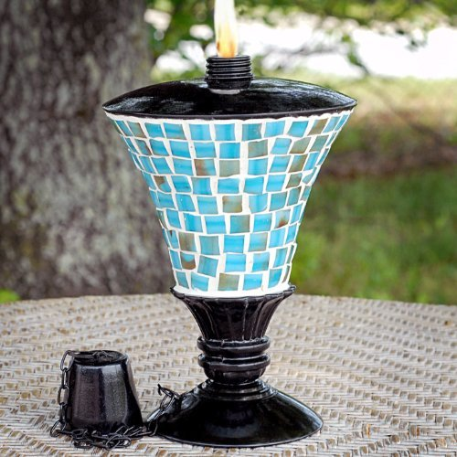 UPC 752122174816, 9 Inch Turquoise Mosaic Codson Park Table Top Torch