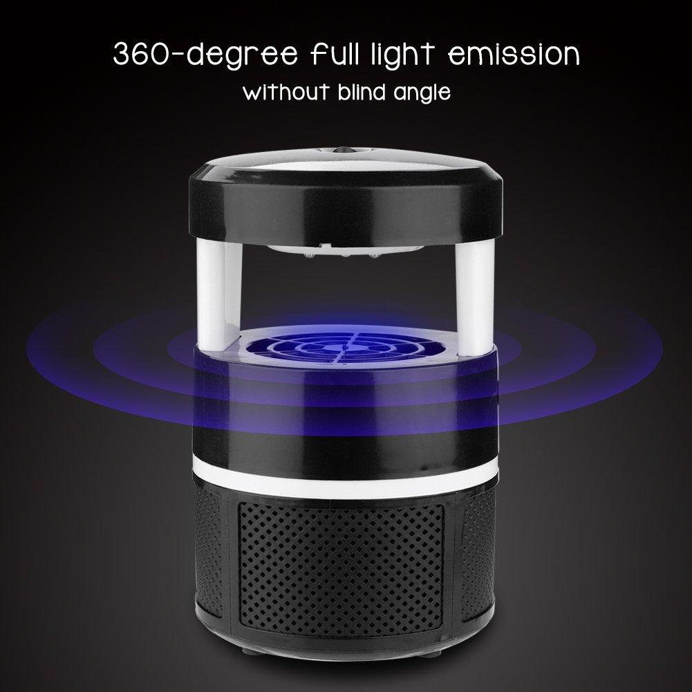 LED L/ámpara de Asesino de Mosquitos l/ámpara de Control/ /Trampa para Moscas el/éctrico con USB para casa jard/ín Zerone Repeller Pest