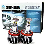 GENSSI Elite Halo Angel Eyes Bulbs For BMW Headlights (H8 E60 E63 E64 E70 E71 E82 E84 E87 E89 E92 E93 E94) (Pack of 2)