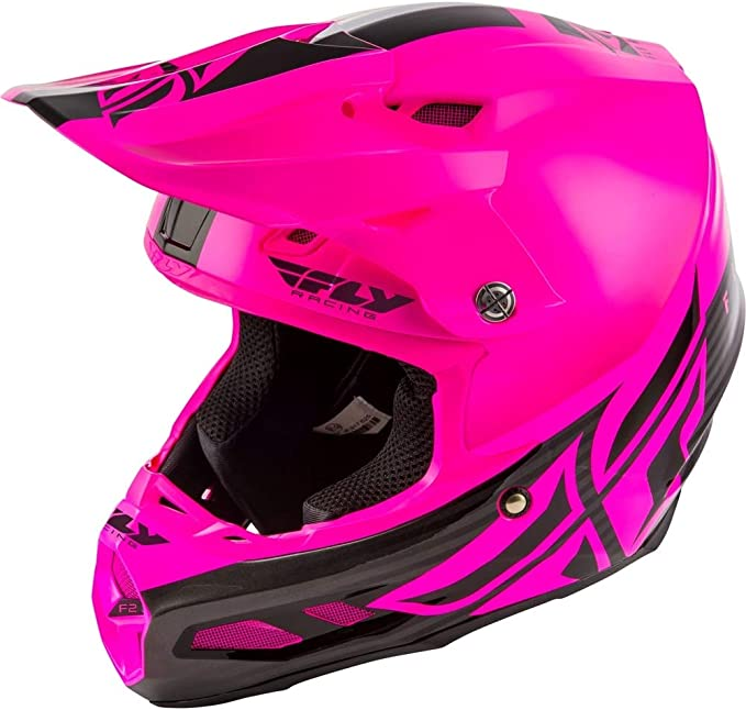 Fly Racing F2 Carbon Shield Helmet Hi-Vis//Black Md