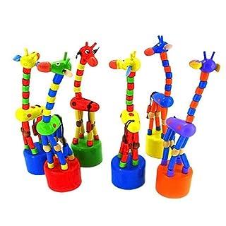 Newin Star Giraffa a Dondolo in Legno Giocattolo Educativo per Bambini Danza in Piedi(Colore Casuale)