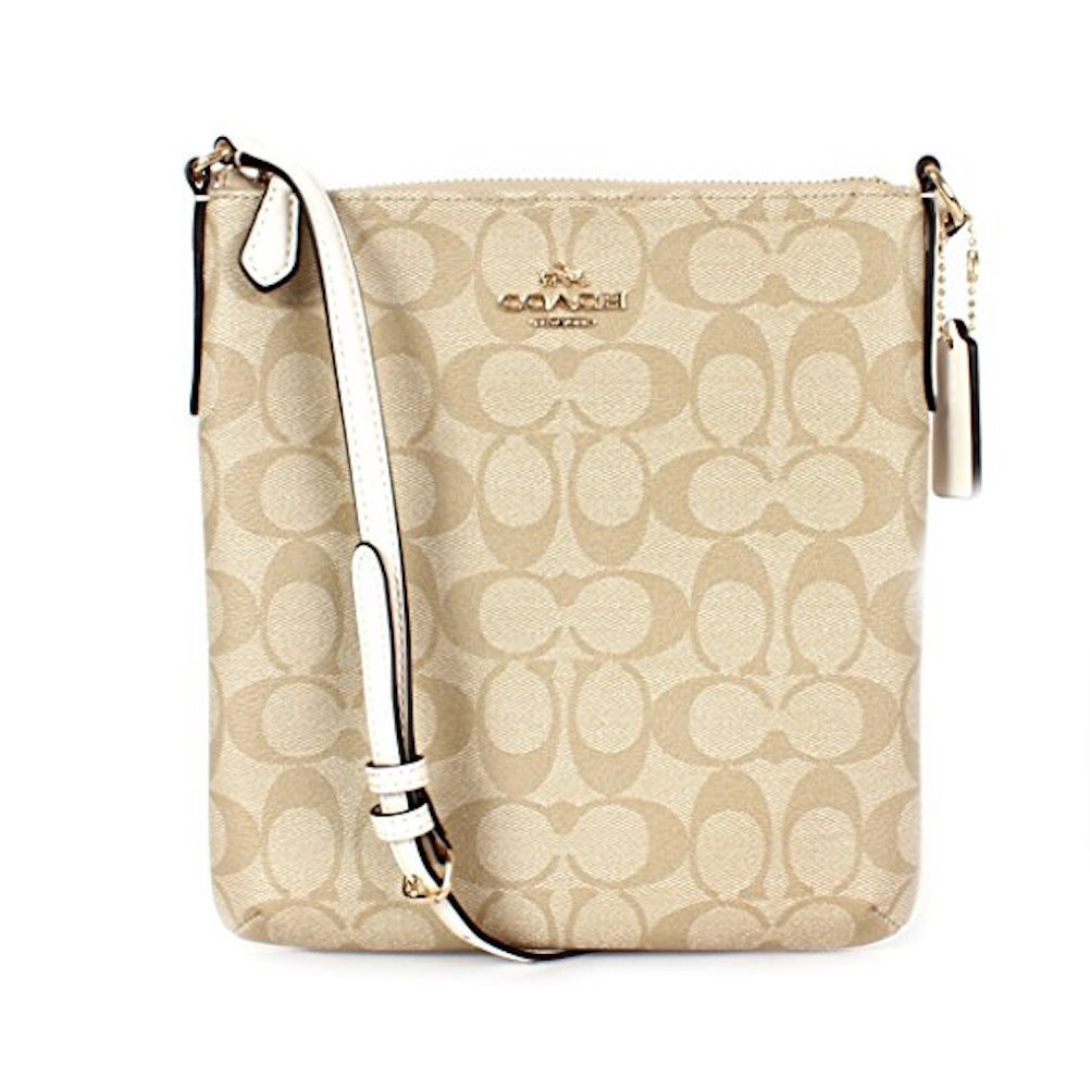Coach Signature N/S Crossbody - Light Khaki/Chalk