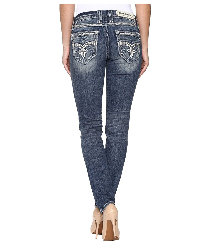 Rock Revival Women's Jeniya S400 Medium Blue Jeans