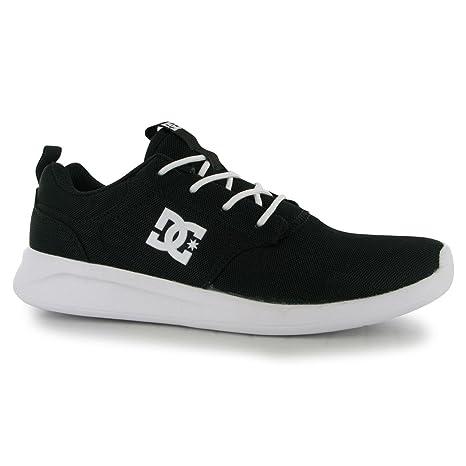 DC Shoes Midway Zapatillas Deportivas para Hombre Negro/Blanco Casual Zapatillas Zapatos Calzado, Negro