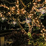 DSstyles LED Copper Wire String Lights Hanging Firework Lamp Wireless Remote Control Home Garden Party Yard Decoration Waterproof