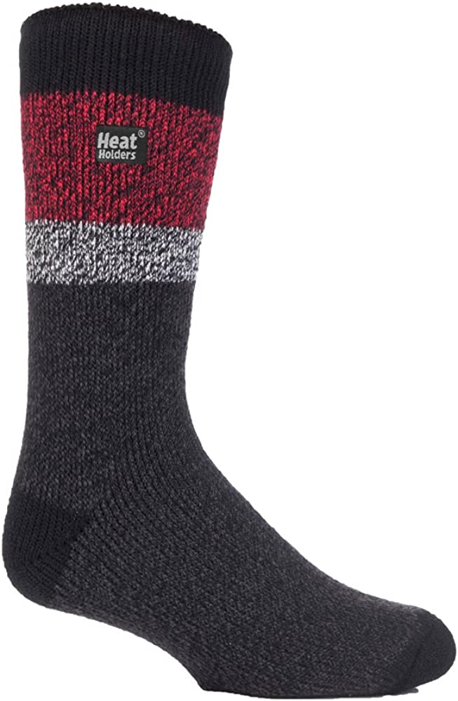 size 6-11 UK 39-45 Eur Mens New Patterned Warm Winter Striped Twist Thermal Socks in 10 colours Heat Holders