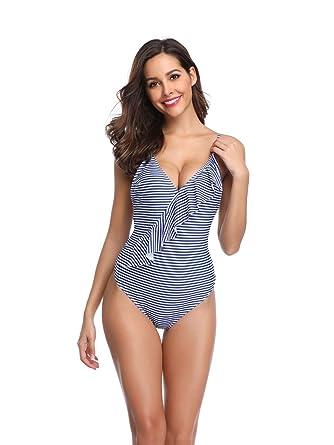 Traje de baño de una Pieza Traje de baño para Mujer Bikini de una ...