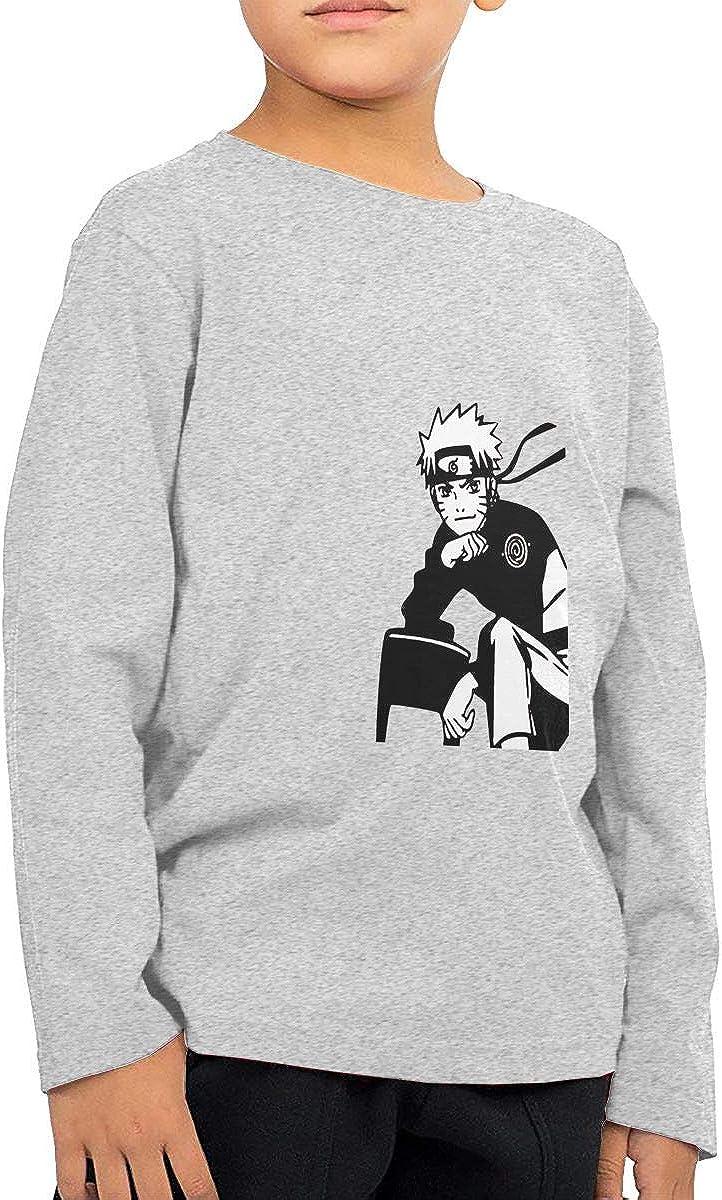GongCZL Art Naruto T-Shirt for Kids Gray