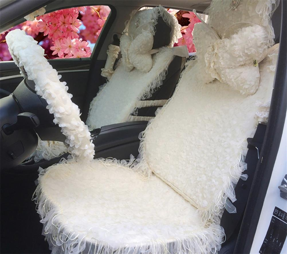YAOHAOHAO Dream Pink Ladies of cute cartoon seat cover car seat head of women in particular the car neck pillow car accessories, knows