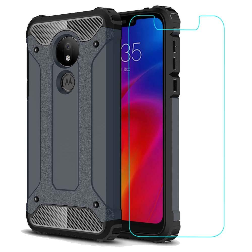 Funda + Vidrio Para Moto G7 Power Amasell-a (7q19fl11)