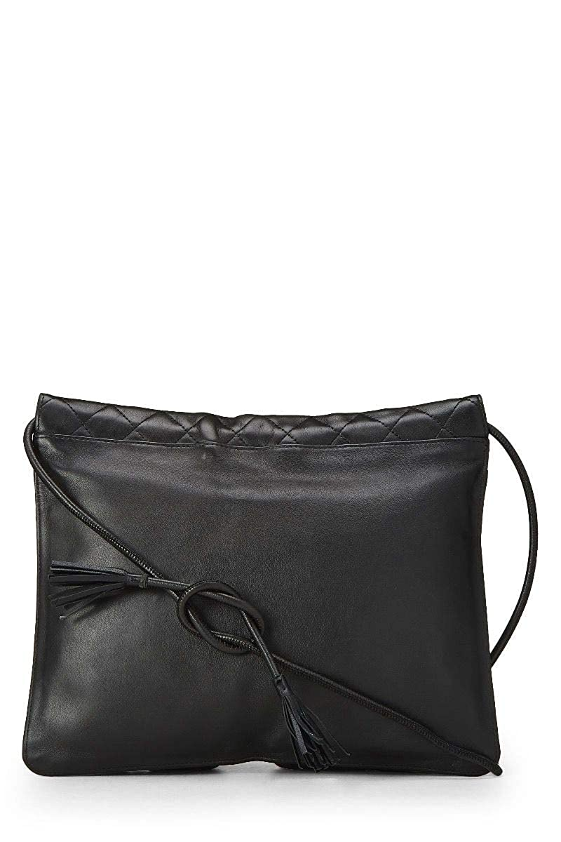 185accfd9e16 CHANEL Black Quilted Calfskin Cambon Ligne Shoulder Bag (Pre-Owned):  Handbags: Amazon.com
