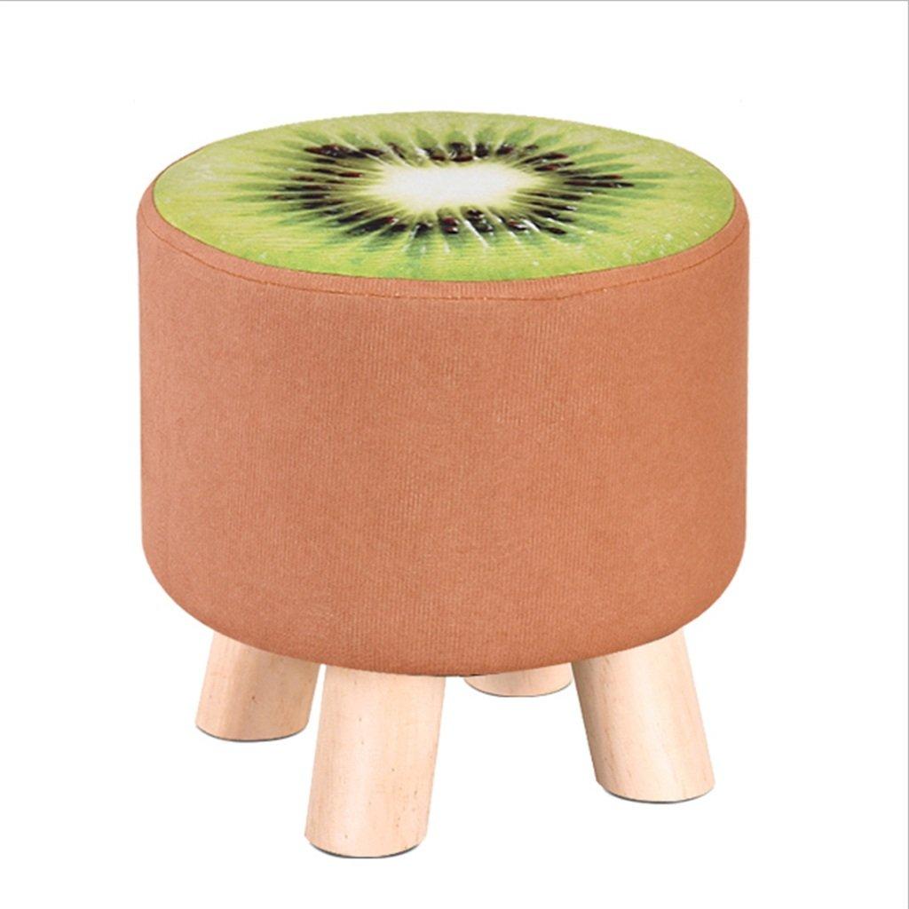 Footstool Wood Creative Party Fabric Sofa Coffee Table Home