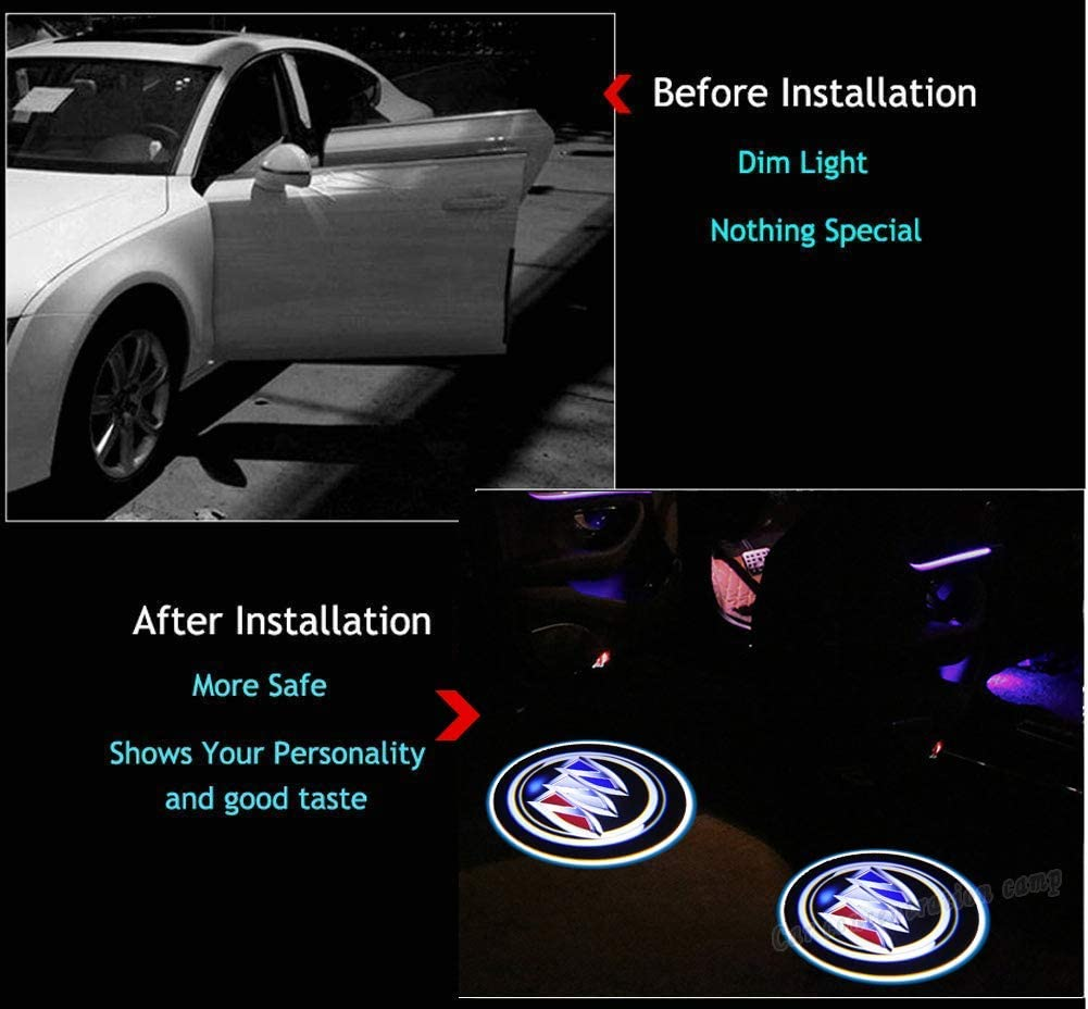 2Pcs for Car Door Lights Logo for RAM Car Door Led Projector Lights Shadow Ghost Light,Wireless Car Door Welcome Courtesy Lights Logo for All Car Models