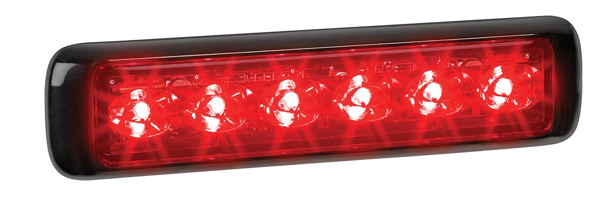 Federal Signal MPS600U-RW MicroPulseUltra 3 Red and 3 White LEDs Clear Lens Surface Mount