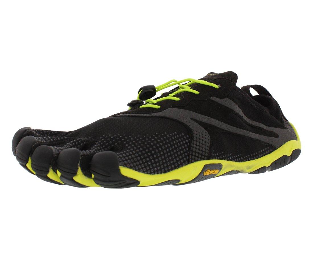 Vibram Men's Bikila EVO Road Running Shoe, Black/Yellow,46 EU/12-12.5 M US