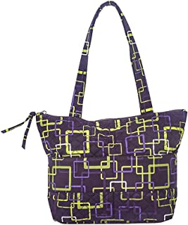 product image for Kitty Tote by Stephanie Dawn, Made in USA, Quilted Cotton Fabric, Small, Full Zipper Closure, Handcrafted, Washable