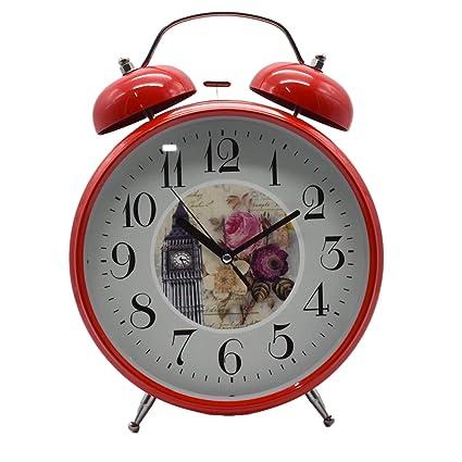Twin Bell Alaram Clock - Red