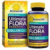 Renew Life Adult Probiotic - Ultimate Flora Colon Care Probiotic Supplement - Gluten, Dairy & Soy Free - 80 Billion CFU - 30 Vegetarian Capsules