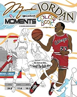 Michael Jordans Greatest Moments An Inspirational Coloring Book Biography For Adults And Kids Retro