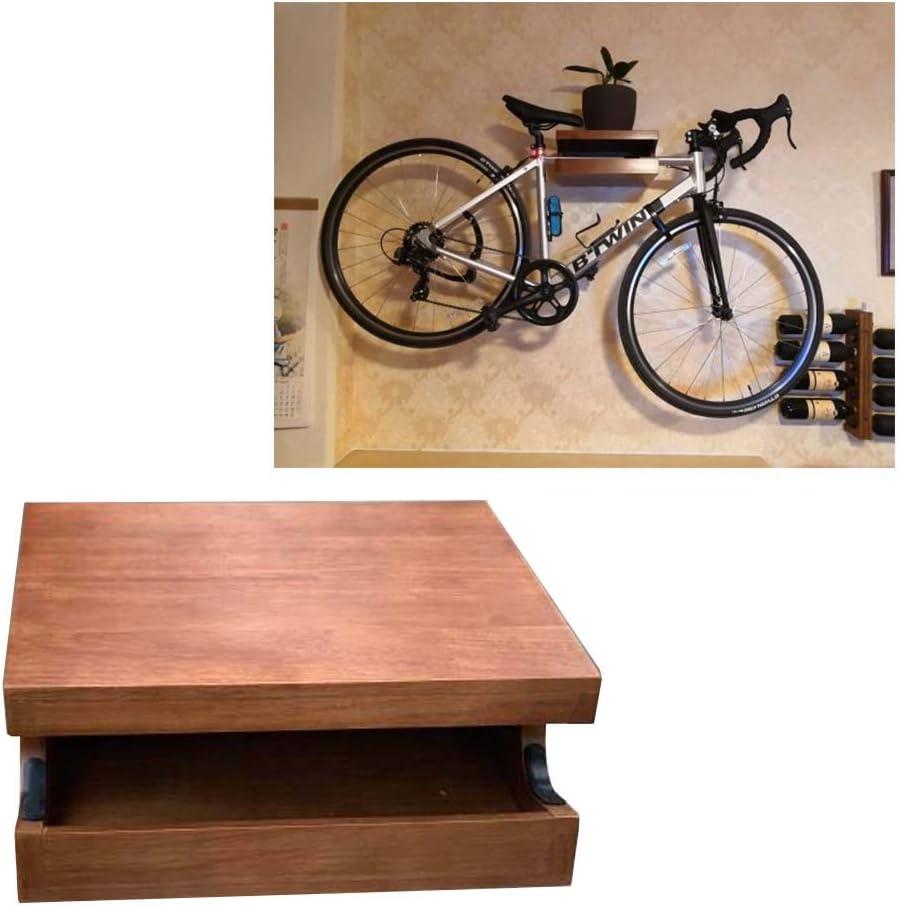 JXS Montado en la Pared Diseño Bici Plataforma Plataforma - Madera Natural de Montaje en la Pared de la Bicicleta - para el Almacenamiento de Interior,Wrown: Amazon.es: Hogar
