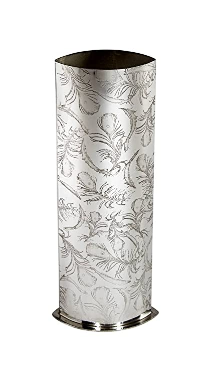 Amazon Wentworth Pewter Peacock Feather Pewter Vase Vase
