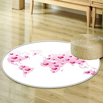 Amazon Com Round Area Rug Teen Girls Decor Global Peace Theme