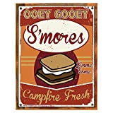 Cheap Wood-Framed Smores Metal Sign, Autumn, Thanksgiving Decor, Fall Décor on reclaimed, rustic wood