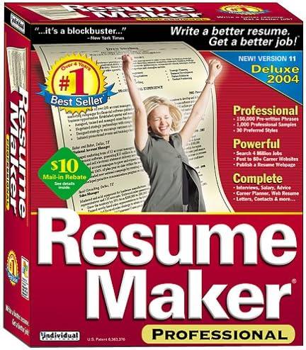 Resume Maker Professional 11 Amazon Ca Software